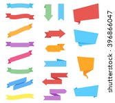 stickers and ribbons. set of... | Shutterstock .eps vector #396866047