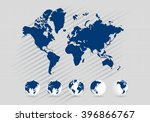 world map | Shutterstock . vector #396866767