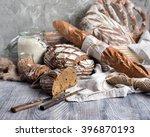assorted of artisan sourdough... | Shutterstock . vector #396870193