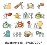 Business Icons Set Of Sketch...