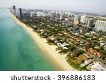 miami beach skyline aerial view | Shutterstock . vector #396886183