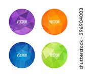 Set Of Colorful Round Logos....