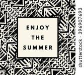 enjoy the summer hipster boho... | Shutterstock .eps vector #396907693
