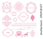 mega set collections of vintage ... | Shutterstock .eps vector #396918157