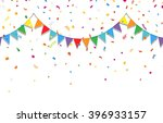 party background with colorful... | Shutterstock .eps vector #396933157