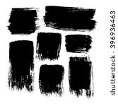 set of 7 grunge black abstract... | Shutterstock .eps vector #396936463