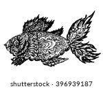 ornamental graphic fish sketch  ... | Shutterstock .eps vector #396939187