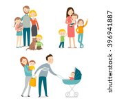 family and kids. cartoon vector ... | Shutterstock .eps vector #396941887