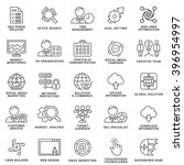 modern seo contour icons of web ... | Shutterstock .eps vector #396954997