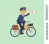 illustration of a postman... | Shutterstock .eps vector #396962317