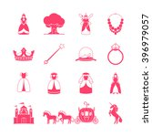 princess icon set. princess... | Shutterstock .eps vector #396979057