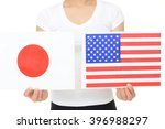 Japan   United States Flags