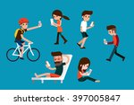 smartphone society.   Shutterstock .eps vector #397005847
