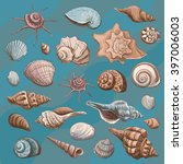 collection of colored sketches .... | Shutterstock .eps vector #397006003