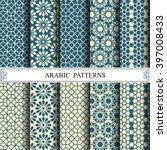 arabic vector pattern pattern... | Shutterstock .eps vector #397008433