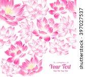 Vector Pink  Lotuses Flowers...