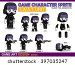 special forces hero character... | Shutterstock .eps vector #397035247
