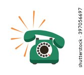 vintage retro phone in a... | Shutterstock .eps vector #397056697