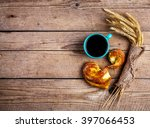 delicious pastries for... | Shutterstock . vector #397066453