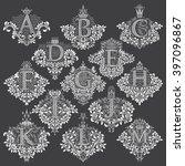 set of heraldic monograms in... | Shutterstock .eps vector #397096867