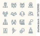 management line icons | Shutterstock .eps vector #397100983