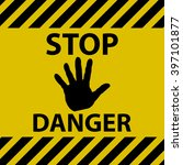 stop danger sign | Shutterstock .eps vector #397101877