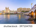 balluta bay in st. julians ... | Shutterstock . vector #397104703