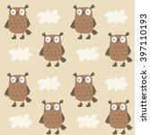 cute owl vector print | Shutterstock .eps vector #397110193