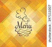 restaurant menu design. vector...   Shutterstock .eps vector #397113307
