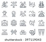 camping icon set suitable for... | Shutterstock .eps vector #397119043