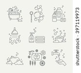 collection of soap icons for... | Shutterstock .eps vector #397119973