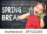spring break announcement by...   Shutterstock . vector #397121203