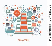 pollution concept design on... | Shutterstock .eps vector #397126333