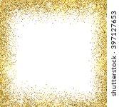 gold sparkles on white... | Shutterstock . vector #397127653