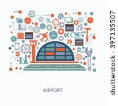 airport concept design on clean ... | Shutterstock .eps vector #397135507
