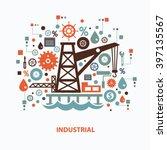 industry concept design on... | Shutterstock .eps vector #397135567