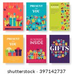 gift information cards set.... | Shutterstock .eps vector #397142737