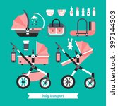 Vector Baby Transport Set. Bab...