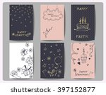 set of  birthday cards  with ... | Shutterstock .eps vector #397152877