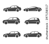 simple car icon set | Shutterstock .eps vector #397158517