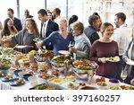 buffet dinner restaurant... | Shutterstock . vector #397160257