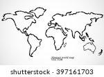 abstract world map. vector... | Shutterstock .eps vector #397161703