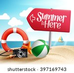 summer destination for summer... | Shutterstock .eps vector #397169743