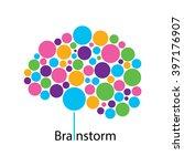 brain creative ideas logo... | Shutterstock .eps vector #397176907