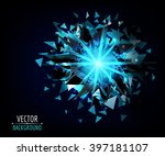 Bright Blast In Dark. Vector...