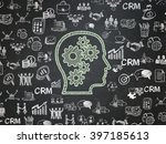 finance concept  chalk green... | Shutterstock . vector #397185613