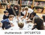 school teacher teaching... | Shutterstock . vector #397189723