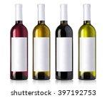 wine bottle in glass bottle... | Shutterstock . vector #397192753