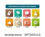 mentoring flat icon set | Shutterstock .eps vector #397205113
