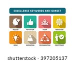 excellence marketing flat icon... | Shutterstock .eps vector #397205137